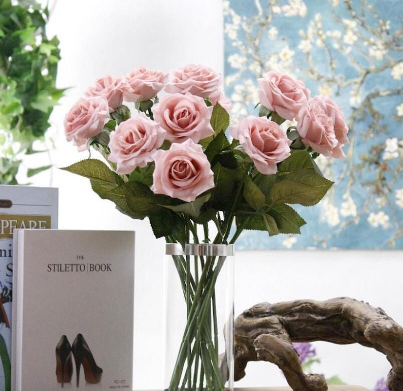 Rose Gold Blumen Weichen Rosa Hochzeit Blumen Echten Hauch Etsy
