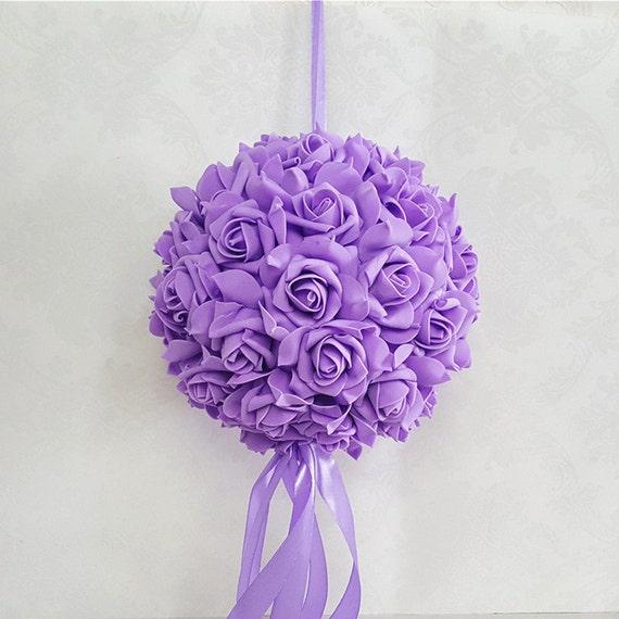 Lavande baisers boule fleur mauve clair boules en mousse fleur Pomander  boules pour les filles de fleur de cérémonie en plein air de mariage  centres ...