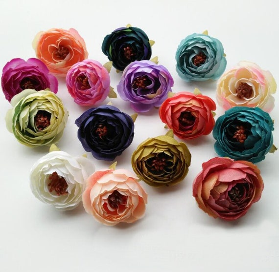 Wholesale silk peony flower heads 300 flowers quality silk etsy image 0 mightylinksfo