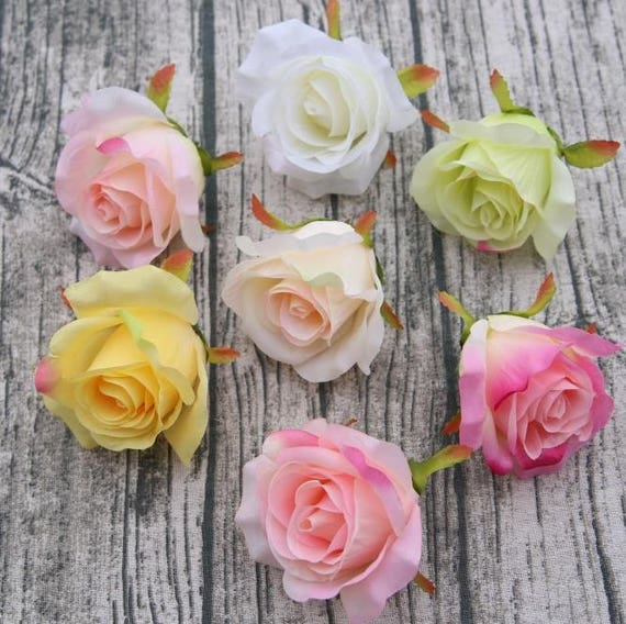Bulk rose heads silk flowers roses wholesale 100 flowers 7 etsy image 0 mightylinksfo