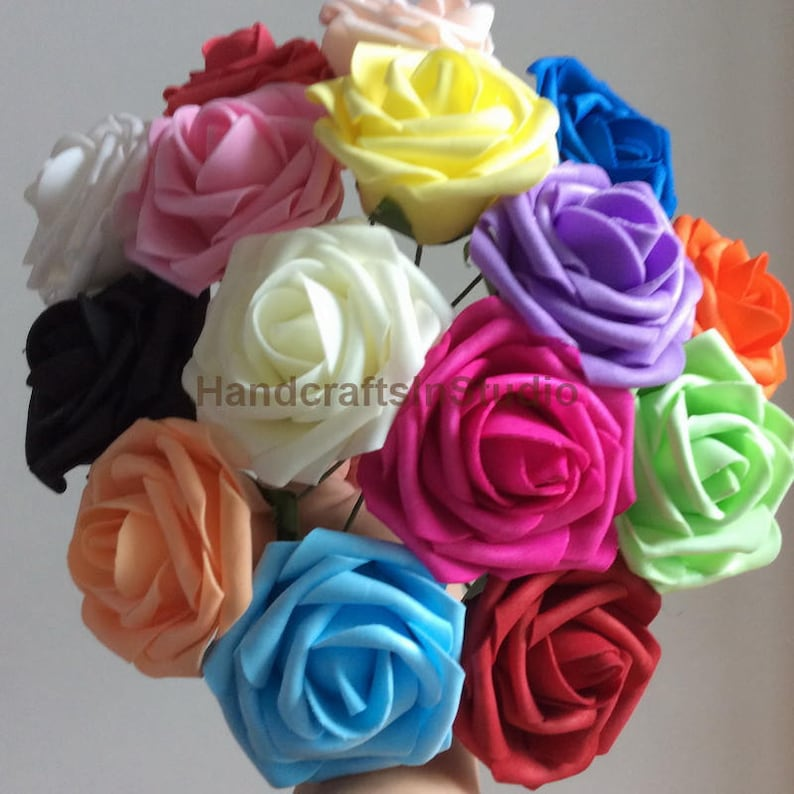 Artificial Foam Rose Fake Flowers Wholesale Bulk Flower For image 0