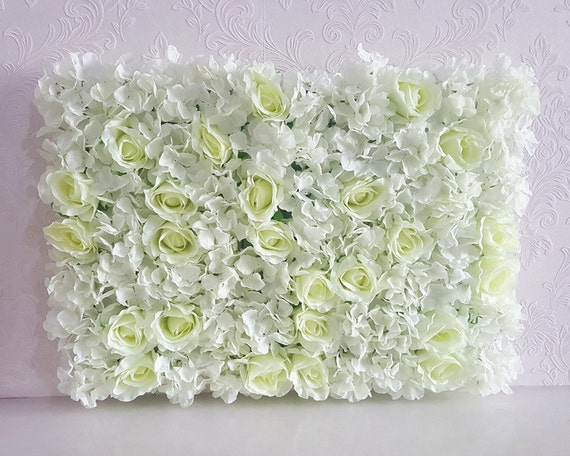 White Flower Wall Panel Artificial Silk Rose Hydrangea Peony Cream Ivory Floral Wedding Background For Photography Backdrops Cjhq Q017