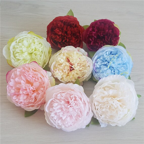 Wholesale Silk Peony Flower Heads Simulation Flowers Peonies Etsy