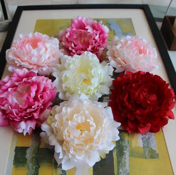 Quanlity peony heads silk peony flowers 15cm peonies 100 etsy image 0 mightylinksfo