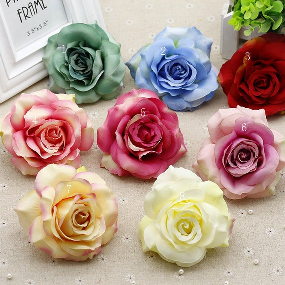 10 vintage rose heads 10cm large flower heads for hair clips etsy image 0 mightylinksfo
