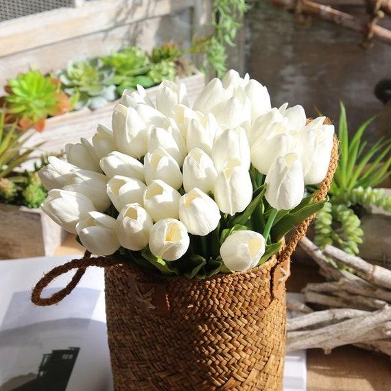 Bukiet Kwiat Różowy Tulipany Kwiat Prawdziwe Kwiaty Touch 30 Etsy