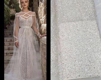 Material Glitter Lace Wedding Dress