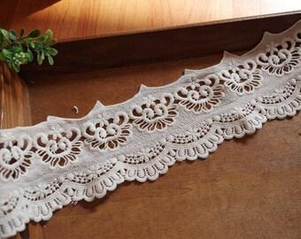 ivory venice lace trim, crochet lace trim
