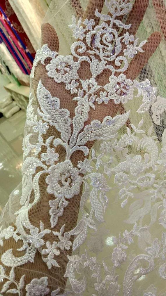 tela marfil encaje para el vestido de novia super delicado | etsy