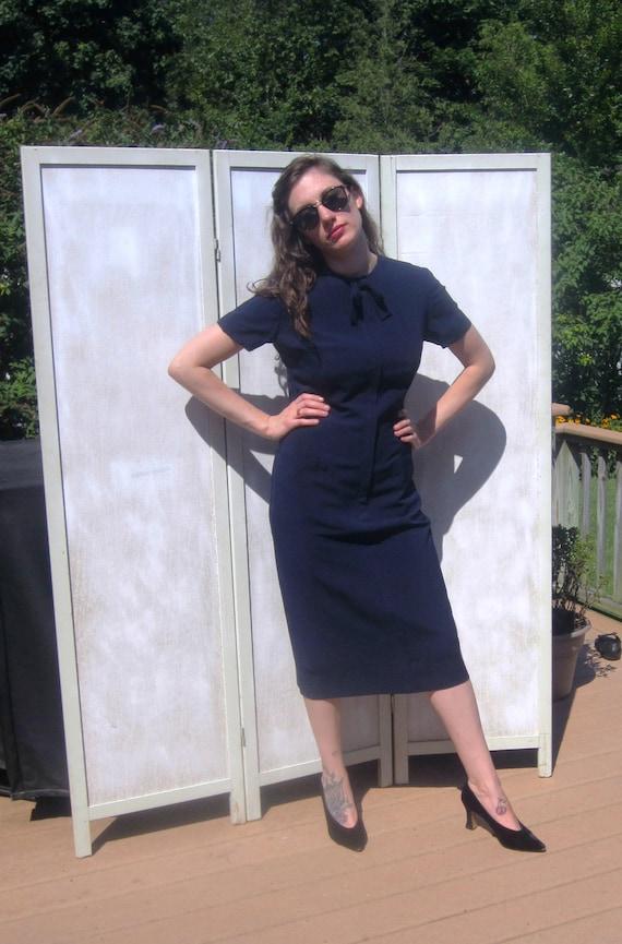 Navy Blue 50s Vintage Anytime Dress
