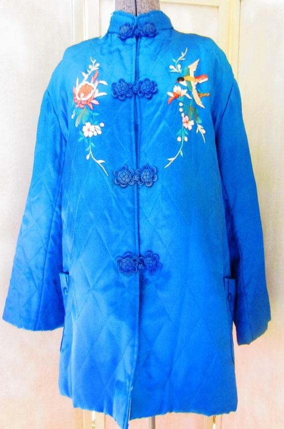 Vintage 60s Silk Japanese Lounge Jacket