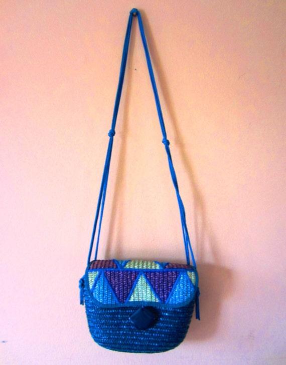 Vintage Woven Straw handbag by Barbara Bolan for B