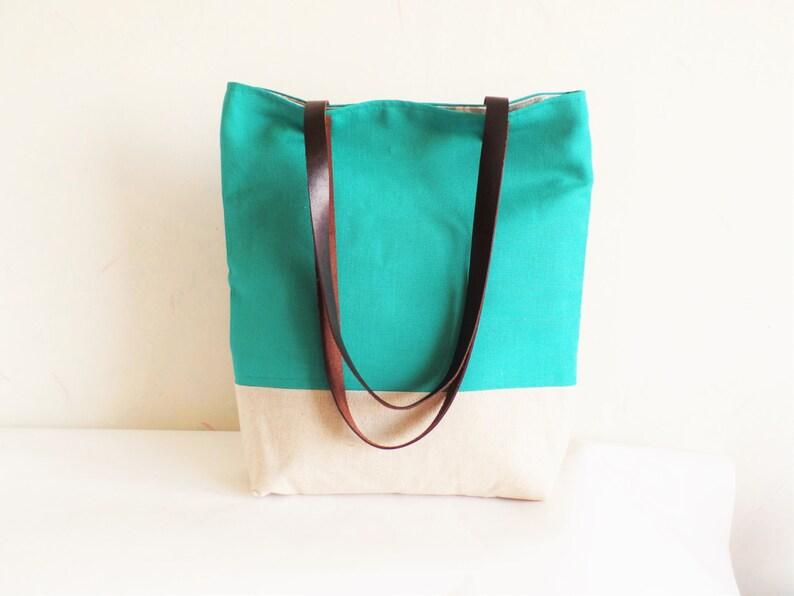 c60b439df7613 Grüne Tasche Flaschengrün Tasche Leinen-Einkaufstasche