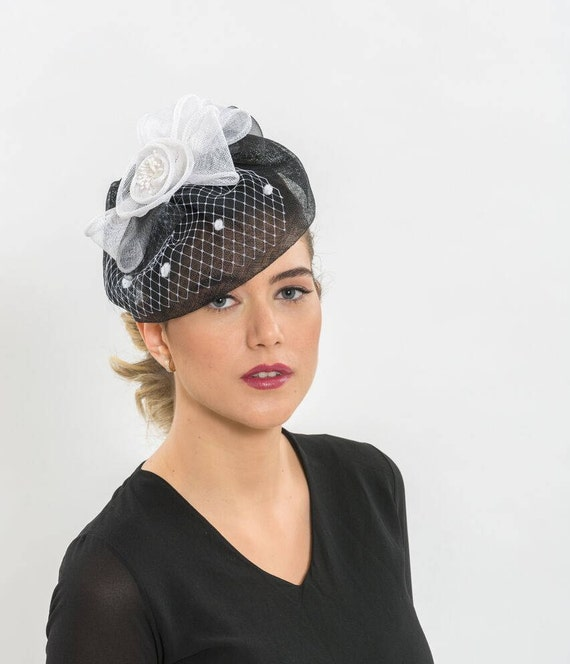 63bf7d11ef645 Black fascinator hat Black cocktail hat bridal fascinators