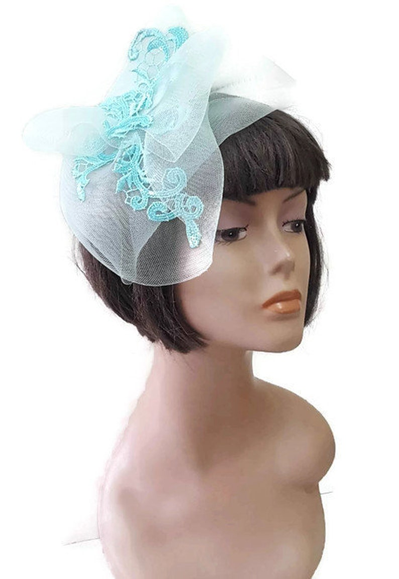 Wedding hat Mint hat Hatinator fascinator hat Fashion  eefb26b80ee