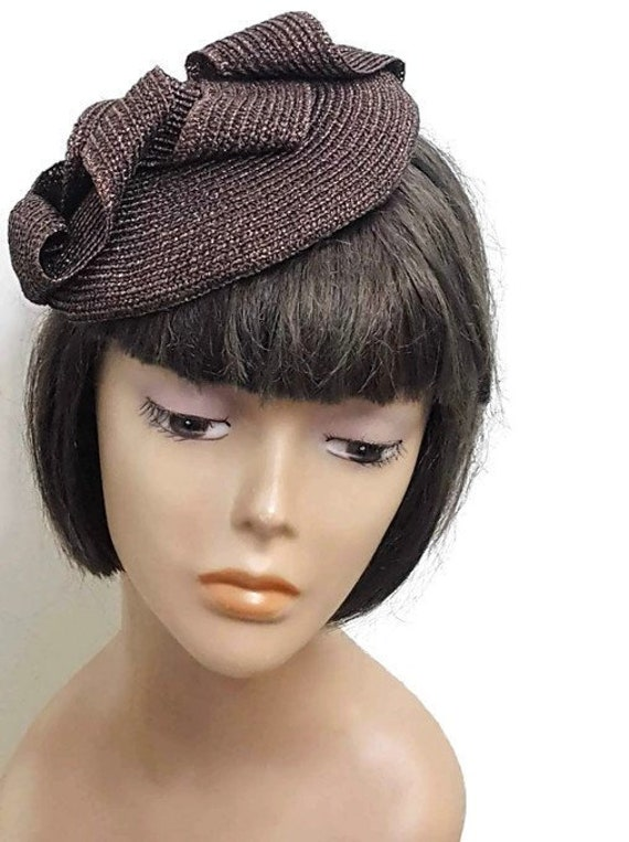 2ee25522770683 Brown cocktail hat Derby hat Designer fascinator ladies day | Etsy