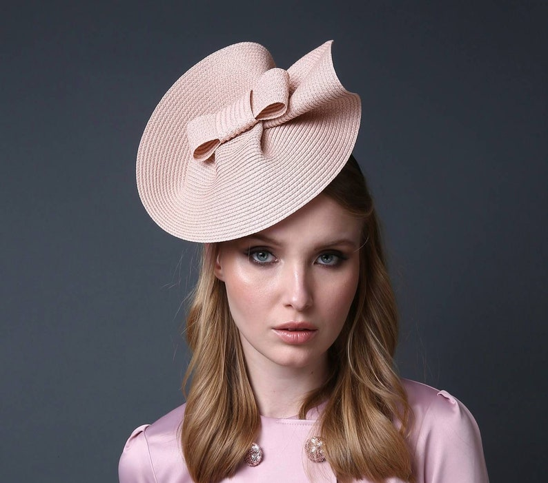 e5599d49aeaa5 Pink fascinator hat Kentucky derby hat Extra vegant hat