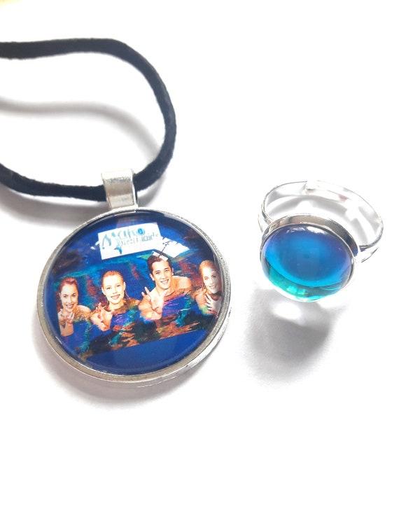 Mako Mermaids Necklace And Moonring Mermaid Moon Ring H2o Etsy