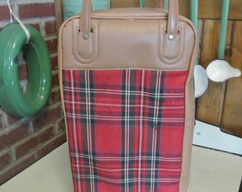 Vintage Red Plaid Picnic Set Thermos Red Thermos Picnic Glamper