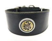 Southwestern floral concho Adjustable leather martingale collar SALE