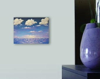 Abstract seascape canvas wall art ocean sunset painting original art wall art decor acrylic painting