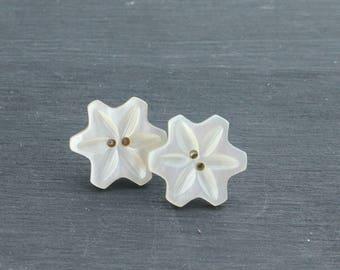 Shell Button Earings