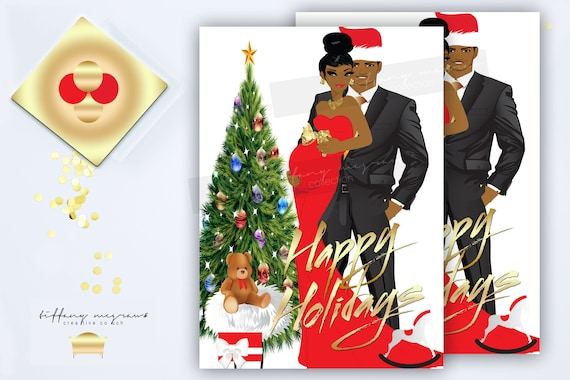 Oh Baby Is Cold Outside African American Christmas Card Baby Etsy