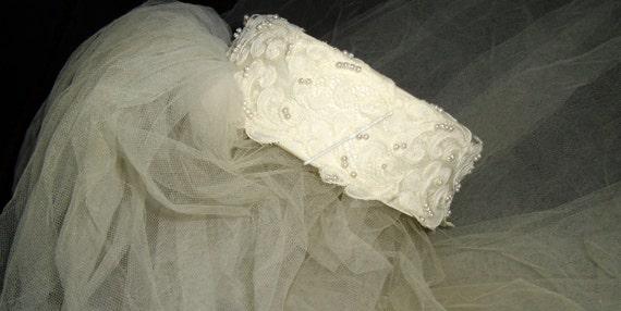 Vintage 1950's Headpiece and Veil, Vintage Tiered… - image 3