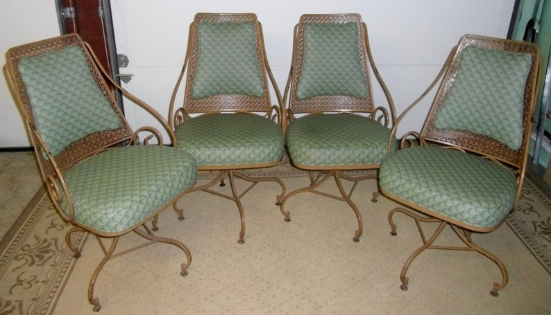 Vintage Wrought Iron Dining Set, Wrought Iron Patio Set, Wrought Iron  Chairs  SALE 25%