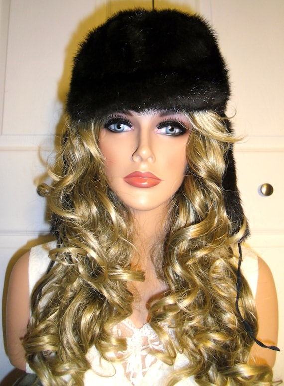 Vintage Authentic Russian Fox Fur Hat with Ear Fla