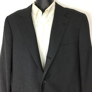 Vintage Ernesto Bellini Gray Wool Jacket Sport Coat Blazer Menswear Mens 42L 42 Long