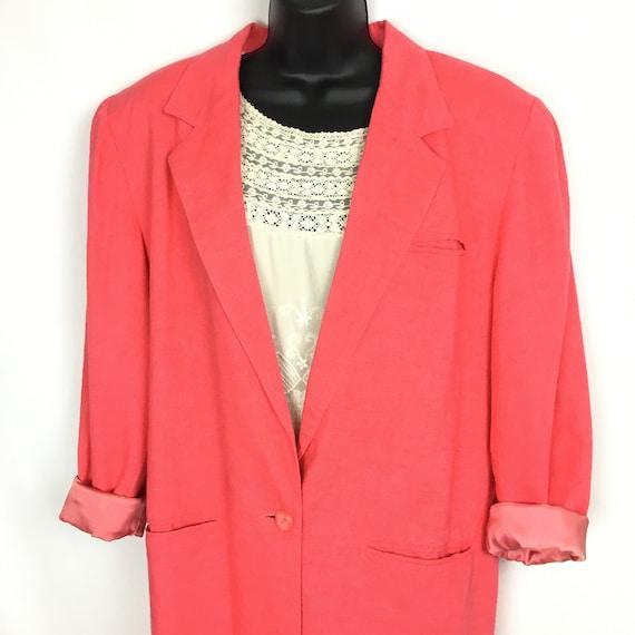 Vintage Womens Oversized Blazer Jacket Small, 80s