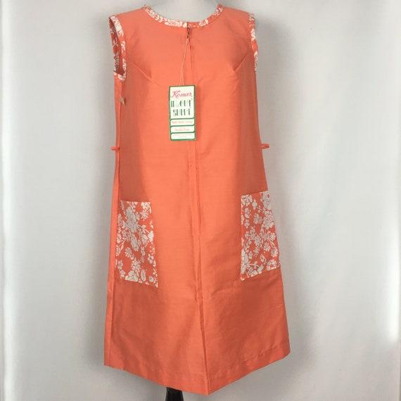 Vintage Womens Day Dress Medium, 70s Casual Orange
