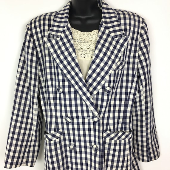 80s Vintage Doubled Breasted Blazer Womens Medium