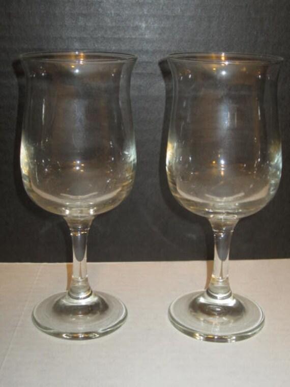 Clear 8 Oz Wine Glasses Set Of 2 Etsy