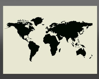 World map stencil etsy world map stencil various sizes made from high quality mylar gumiabroncs Images