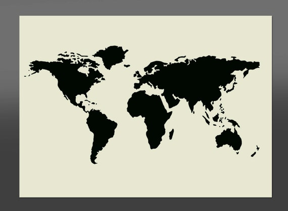 World Map Stencil Various Sizes Made From High Quality | Etsy
