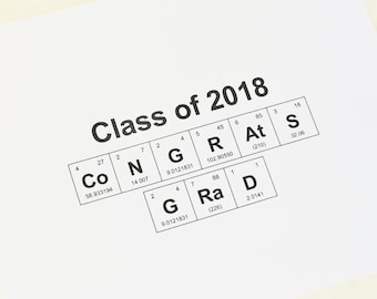 Graduation Keepsake Sign 8x10 Periodic Table of the Elements