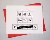 """Sassy Chemistry Periodic Table of the Elements Sexy MF - Mature Content """"SeXeY MoThErFUCKEr"""" Chemistry / Prince Lyric Love  Card"""