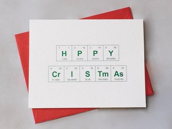Metallfolie Frohe Weihnachten Chemie Periodensystem der | Etsy