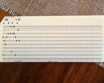 Computer Punch Cards, Vintage Paper Ephemera (lot of 10)