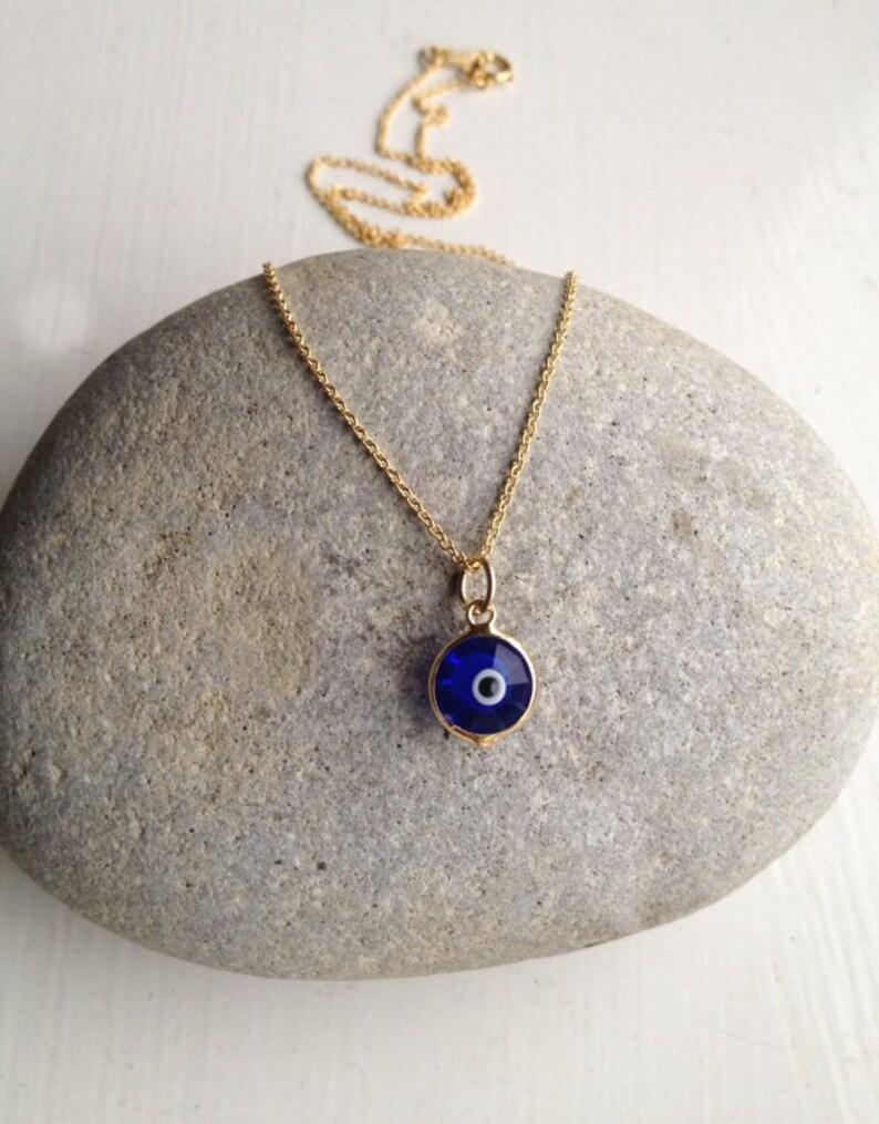Gold Evil Eye Necklace Swarovski Crystal Necklace UK Shop  2ff2968f412e