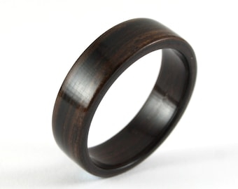 Ebony Wood Wedding Ring