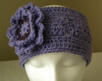Crochet HEADBAND PATTERN with flower