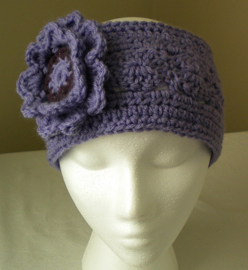 Crochet Headband Pattern With Flower Pinwheel Headband With Etsy