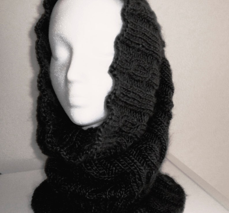 Knit Cowl Hood PATTERN / Chelsea Cable Cowl Hood / Cabled ...
