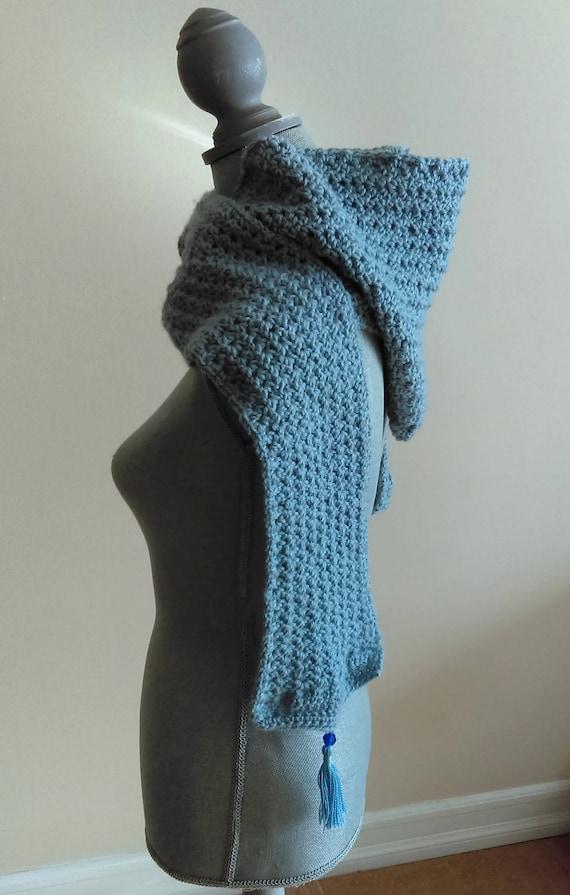 Crochet Hooded Scarf Pattern Frosty Hooded Scarf Scarf Etsy