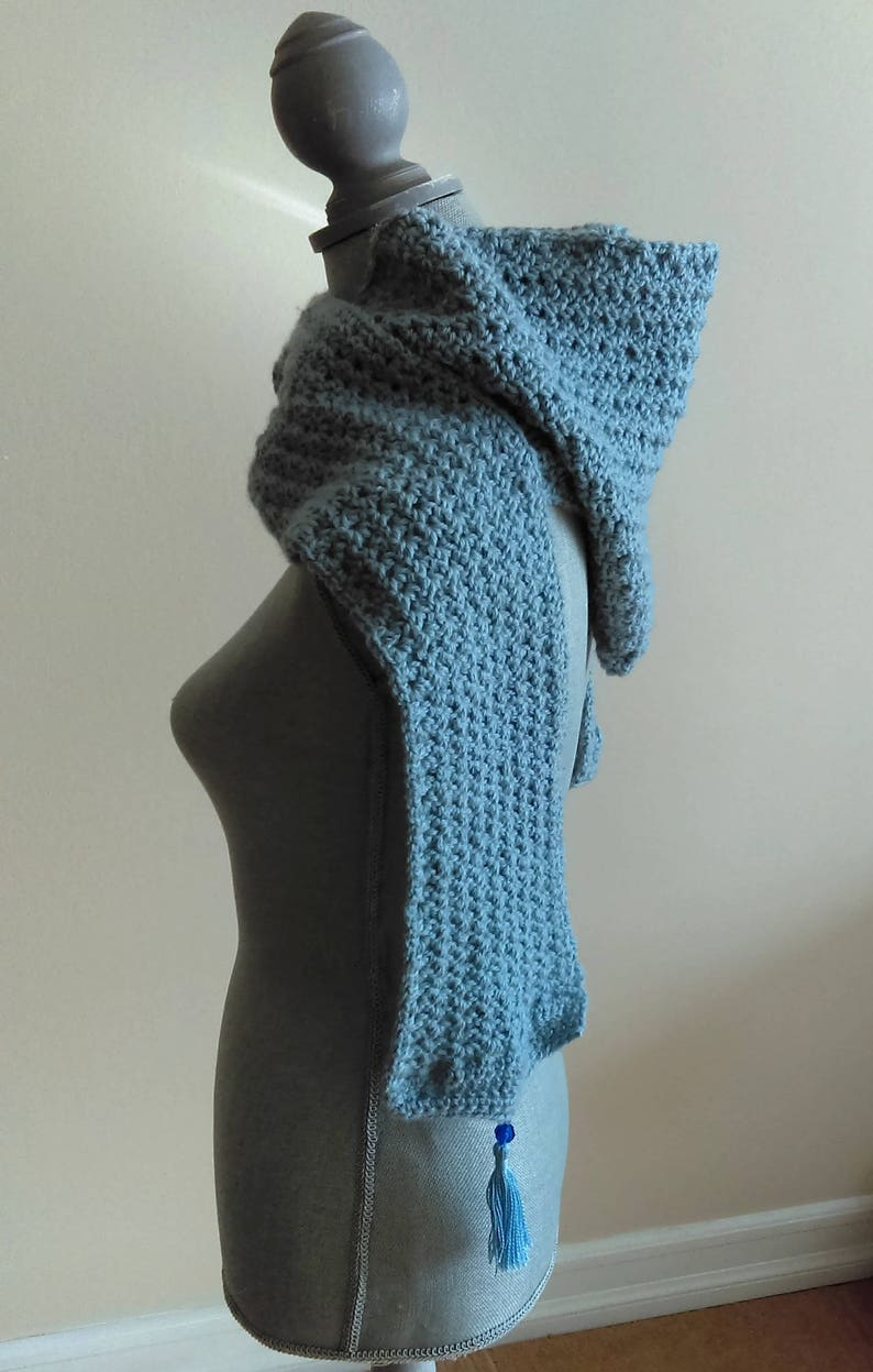 Crochet Hooded Scarf Pattern Frosty Hooded Scarf Scarf Etsy