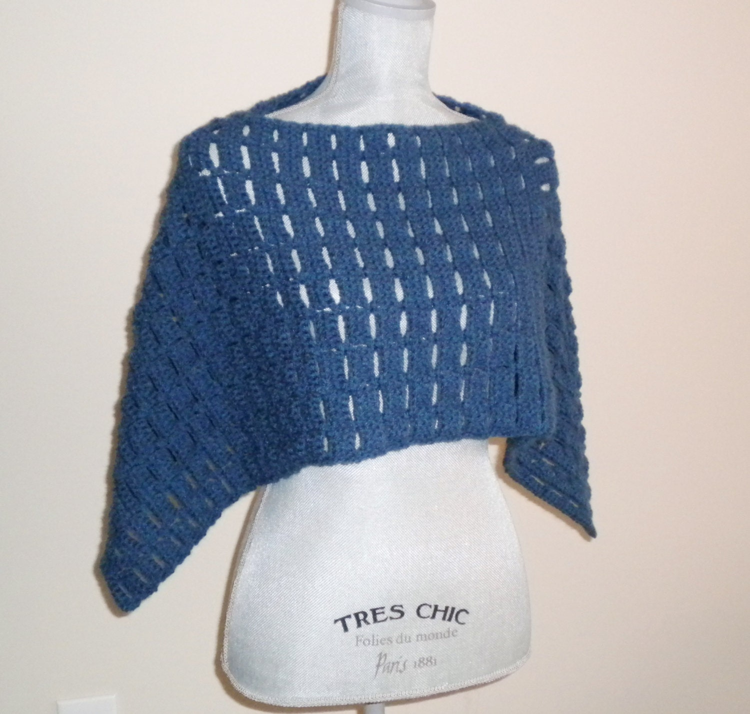 Crochet Capelet Pattern Carefree Capelet Easy Poncho Sweater Short Cape Shawl Crochet Pattern