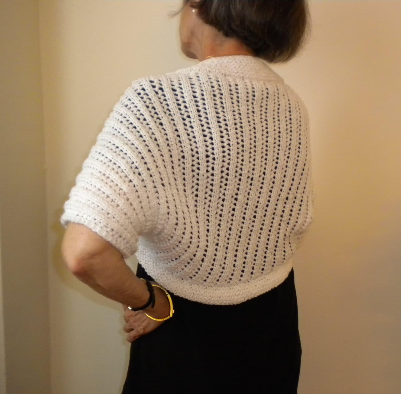 Knit Bolero Shrug Pattern Cascading Lights Crochet Bolero Etsy